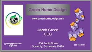 Purple Business Cards Free Feng Shui Business Card Design
