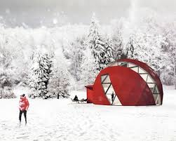 foldable solar powered geodesic dom e home can be erected