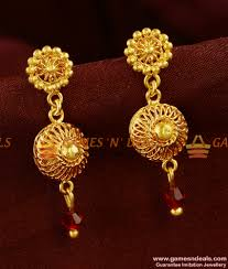 design of earrings gold college party wear trendy design earrings low price online