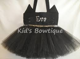 black kitty halloween costume monogrammed black cat tutu tote bag halloween trick or treat bag
