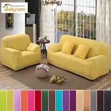 canap sal grande élasticité stretch solide couleur housse de canapé polyester