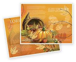 thanksgiving day brochure template design and layout now