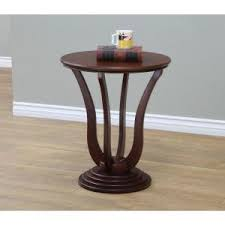 dark walnut end table frenchi home furnishing dark walnut end table dw1409 the home depot
