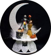 nightmare before christmas wedding cake topper jack sally