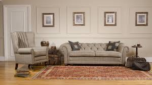 harris tweed castle petit sofa tenterden house interiors