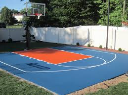 Outdoor Basketball Court Cost Estimate by 9 Best Backyard Basketball Images On Backyard Ideas
