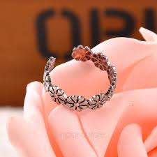 about toe rings images For sale silver plated anklets adjustable open daisy toe ring jpg