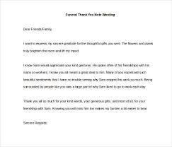 funeral thank you notes 8 funeral thank you notes free sle exle format
