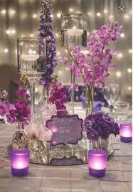 purple centerpieces glamorous purple wedding ideas purple wedding floral designs