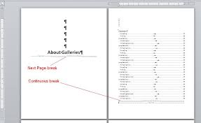 Create Table Of Contents In Word 2013 Understand How Section Breaks Control Formatting In Word
