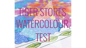 trying out tiger watercolour supplies colouring a page by ma u0027at