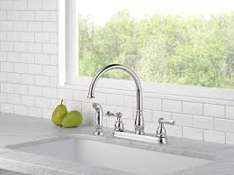 two handle kitchen faucet delta windemere 21996lf two handle kitchen faucet chrome touch