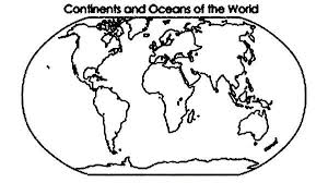 world map coloring pages printable continent and oceans of the world in world map coloring page netart