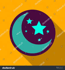 Green Flag With Star And Moon Flat Icon Shadow Moon Stars Stock Vector 786561763 Shutterstock