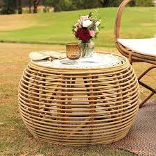rattan coffee table outdoor how to care round rattan coffee table furniture augustineventures com