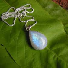 green drop necklace images Buy rainbow moonstone pendant necklace tear drop silver pendant jpg