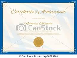 certificate of achievement template in modern theme with vector