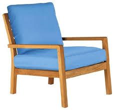 Teak Armchair Barlow Tyrie Avon Teak Armchair With Sky Blue Cushion Modern