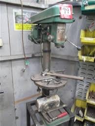 Pedestal Drill Baker Pedestal Drill Press 16 Speed Model Bd 2 Auction 0099