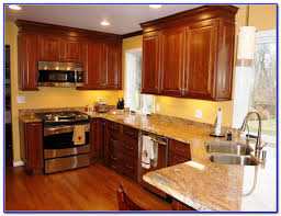 Best Paint Color For Kitchen With Dark Cabinets by Simple Kitchen Color Schemes With Dark Oak Cabinets Wood Of These