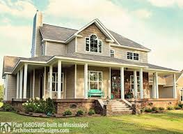 farmhouse with wrap around porch 123 best floor plans images on craftsman house plans