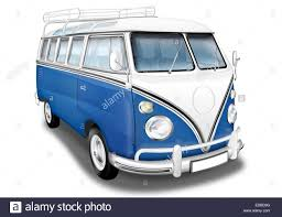 volkswagen vintage cars vw bus vw bus t1 german vintage car as a camper blue and white