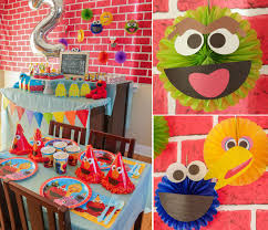 sesame decorations sesame party ideas kids party ideas at birthday in a box