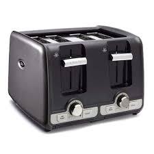 Cuisinart 4 Slice Toaster Cpt 180 Oster 4 Slice Toaster Tssttrwa4g Wide Slots Gray U0026 Chrome Ebay