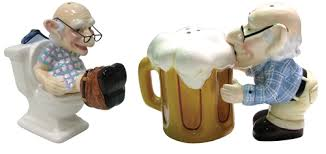 funny salt and pepper shakers old coot salt pepper shakers neatorama