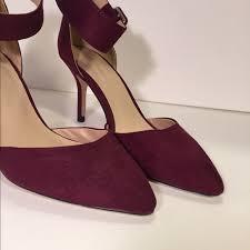 Plum High Heels Zara Zara Plum Faux Suede Pointed Ankle Strap Heels From Sarah U0027s