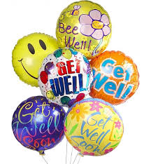 mylar balloon bouquet get well balloon bouquet 6 mylar balloons send get well