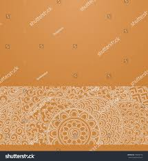 vector ornate background ornamental border orange stock vector