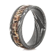 damascus steel wedding band men s damascus steel realtree camo ring titanium buzz
