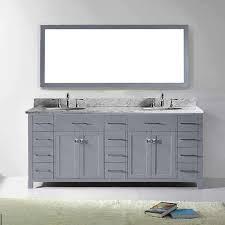 Overstock Bathroom Vanities by Virtu Usa Caroline Parkway 78 Inch Carrara White Marble Double
