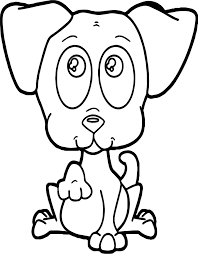 cute puppy begging puppy dog coloring page wecoloringpage