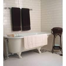 bathroom towel rail white bath nearby square glass shower single