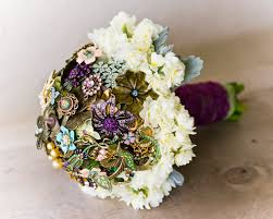 wedding bouquets jewelry inspired bridal bouquets brooch bouquet flourish