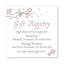 wedding registry gift wedding gift registry wording for invitations gift ftempo