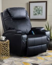 cheap boned leather swivel rocker recliner chair with 8 vibration