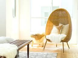wicker chair for bedroom egg wicker chair modern egg shaped wicker chair with sheepskin