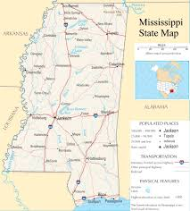Mississippi State Map Mississippi State Map A Large Detailed Map Of Mississippi