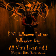 nittis tattoo halloween tattoo specials nittis tattoo parlor