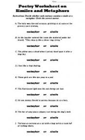 simile metaphor hyperbole or personification worksheet