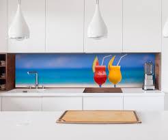 küche spritzschutz folie aufkleber küchenrückwand cocktail strand meer glas küche folie