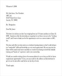 49 resignation letter examples