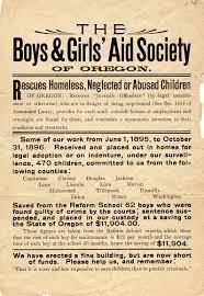 boys and girls aid society of oregon broadside