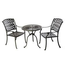 Aluminium Bistro Chairs Bistro Set With Venetian Chairs Outside Edge Metal Garden Furniture