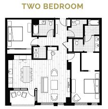 Two Bedroom Floor Plans The Coloradan Usaj Realty
