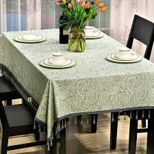 sala da pranzo in inglese verde jacquard texture di lusso tovaglia per sala da pranzo