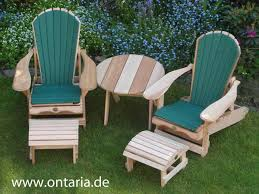 Adirondack Chair Two Adirondack Chair Comfort Recliners Footstools Table Cushions